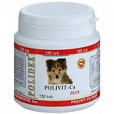 POLIDEX Polivit-Ca plus 150 таб, 1таб/5кг д/щенков, беремен.и кормящих собак